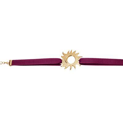 Empreinte - Étreinte volée - Bracelet bordeaux - Or jaune