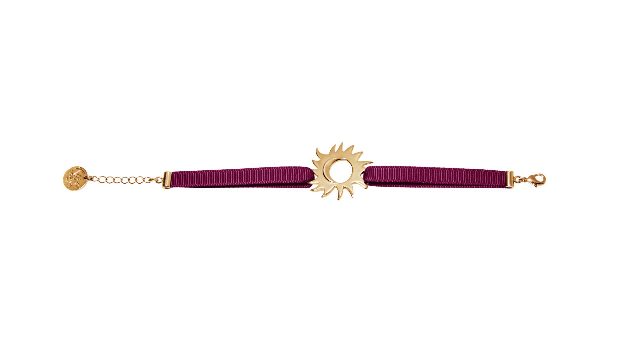 Stolen Embrace - bordeaux bracelet - Yellow gold